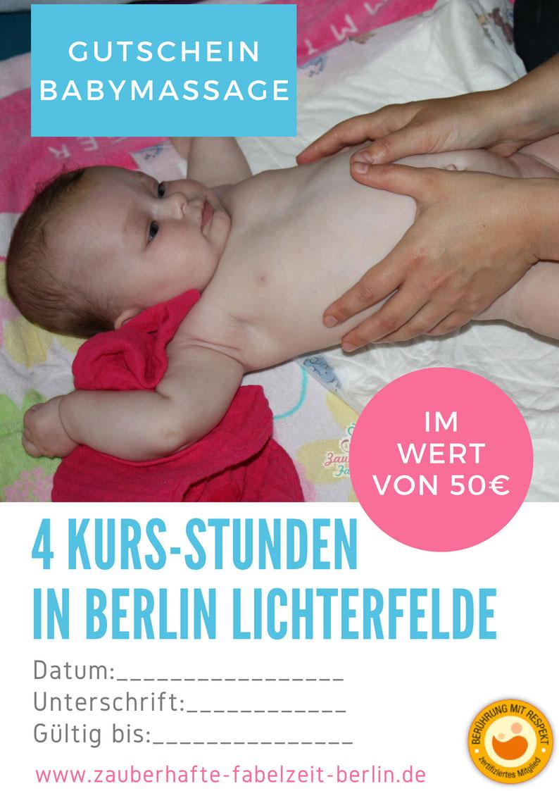 Gutschein-Babymassage
